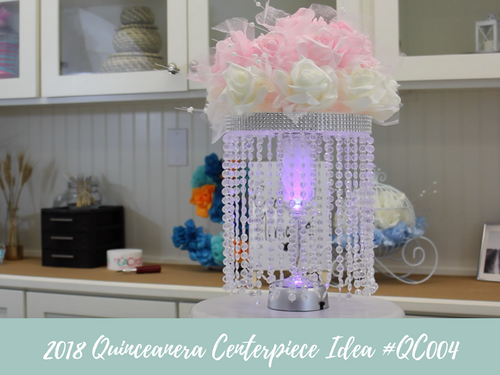 (NEW) 2018 - Quinceanera Centerpiece Idea #QC004