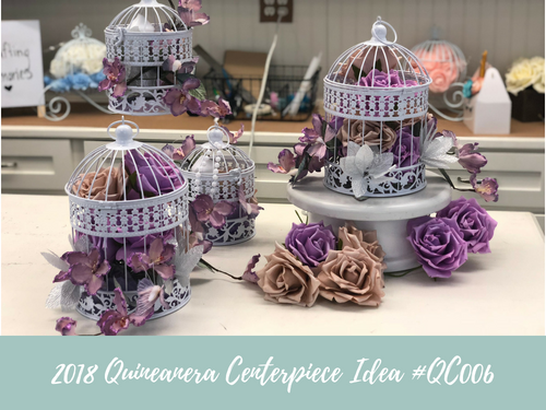 (NEW) 2018 - Quinceanera Centerpiece Idea #QC006