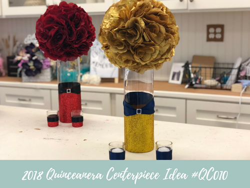 (NEW) 2018 - Quinceanera Centerpiece Idea #QC010