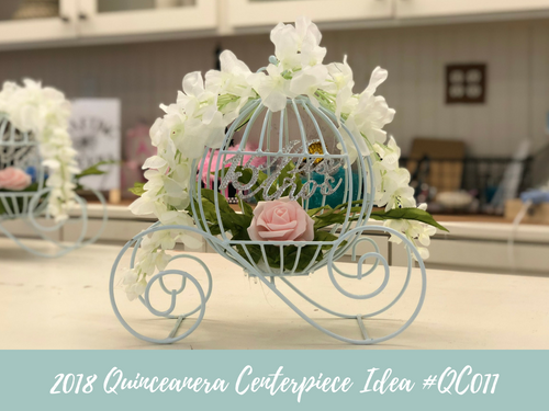 (NEW) 2018 - Quinceanera Centerpiece Idea #QC011