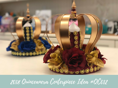 (NEW) 2018 - Quinceanera Centerpiece Idea #QC012
