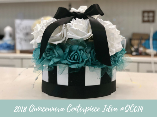 (NEW) 2018 - Quinceanera Centerpiece Idea #QC014