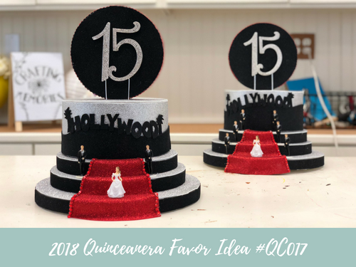 (NEW) 2018 - Quinceanera Centerpiece Idea #QC017