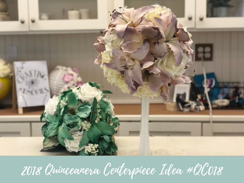 (NEW) 2018 - Quinceanera Centerpiece Idea #QC018