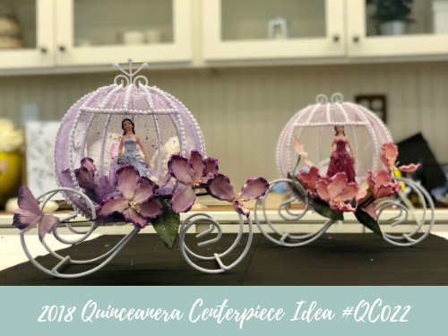 (NEW) 2018 - Quinceanera Centerpiece Idea #QC022