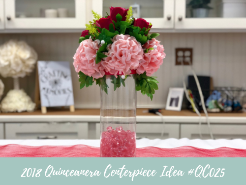 (NEW) 2018 - Quinceanera Centerpiece Idea #QC025
