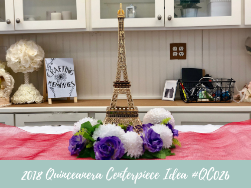 (NEW) 2018 - Quinceanera Centerpiece Idea #QC026