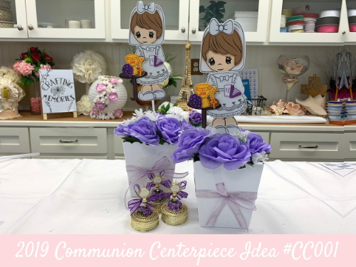 (NEW) 2019 - Communion Centerpiece Idea #CC001