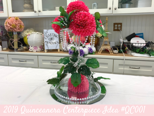(NEW) 2019 - Quinceanera Centerpiece Idea #QC001
