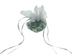 "CLEARANCE - 9"" Organza Pouches w/ Wave Edges & Ribbon Tie (12 Pcs)"