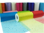 "6"" Rollo De Organza Salpicada con Brillo Reluciente (25 Yards)"