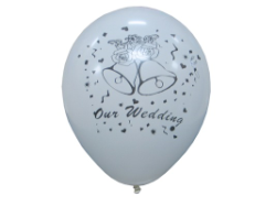 "12"" Globos  Our  Wedding de Latex (12)"