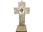 "8"" Cruz con Oracion y Base - Jesus (6 Pcs)"