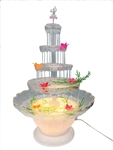 Lighted Water Fountain - 4 Tier with Accessories (1)