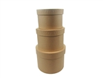 "7"" Caja de Carton (3 pcs) - Cafe Natural Redonda"