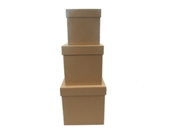 "7"" Caja de Carton (3 pcs) - Cafe Natural Cuadrado"