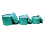 "7"" Caja de Carton (3 pcs) - Round robins egg blue"