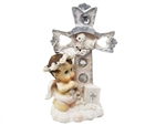 "3 .75"" Angel with Cross Figurine (12)"