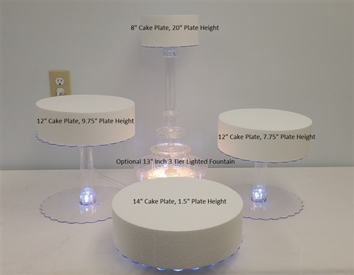 Multi Tier Wedding Cake Stand With Led Lights 4