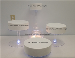Multi Tier Wedding Cake Stand with LED Lights - 4 Tier