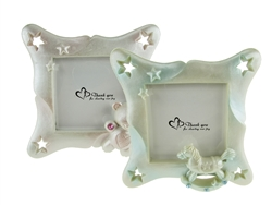 "CLEARANCE - 3.75"" Rocking Horse Picture Frame Favor (12)"
