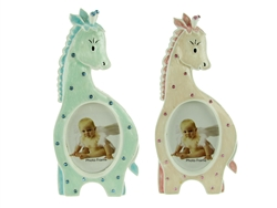 "CLEARANCE - 6.25"" Giraffe Picture Frame / Place Card Holder Favor (12)"