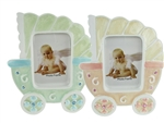 "CLEARANCE - 5"" Baby Carriage Picture Frame Favor (12)"