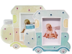 "CLEARANCE - 5"" Choo Choo Train Picture Frame Favor (12)"