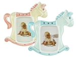 "CLEARANCE - 5"" Rocking Horse Picture Frame Favor (12)"