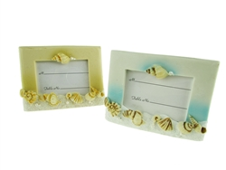 "CLEARANCE - 4"" Beach Picture Frame / Place Card Holder Favor (12)"