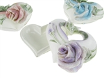"CLEARANCE - 4"" Rose Heart Keepsake Favor Box (12)"