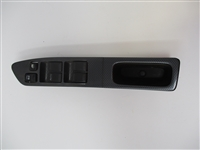 2002 to 2004 Subaru Impreza & WRX/STi LH Drivers Power Window Main Switch Bezel with Switches Factory Carbon Finish 94266FE080