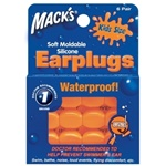 orange moldable silicone kids swimming earplugs