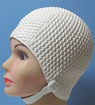 vintage retro swim cap with chin strap