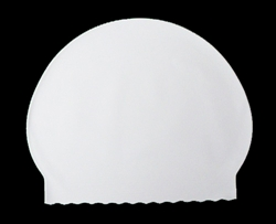 latex swim cap for drawing the brain