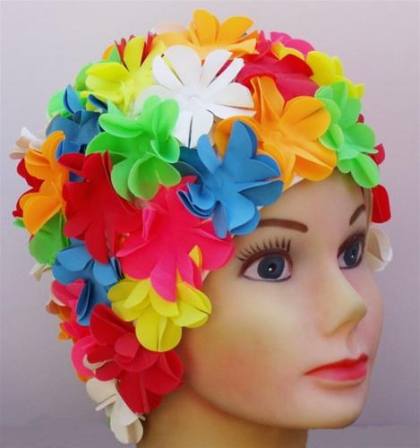 fc23ed4b9f2 child vintage swim cap with flowers