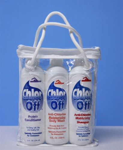 Chloroff Gym Pack with Shampoo Conditioner and Body Wash Anti
