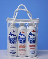 pool chlorine-removal shampoo, conditioner, body wash treatments