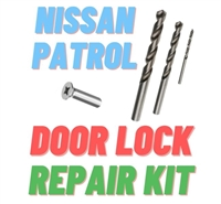NISSAN PATROL DOOR LOCK MECHANISM REPAIR KIT >> Suits GQ and GU Patrol with Door not Locking or Unlocking Properly, or not opening or closing properly, Faulty Door Lock broken plastic clips and rivets, Nissan Patrol Door Lock Problems