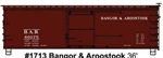 Accurail 1713 HO 36' Double-Sheathed Wood Boxcar w/Steel Roof Wood Ends Fishbelly Kit Bangor & Aroostook