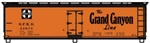 ACU48153 Accurail Inc HO 40' Wd. Reefer Grd Canyon 112-48153