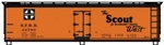 ACU48163 Accurail Inc HO 40' Wd. Reefer The Scout 112-48163