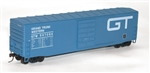Accurail 5552 HO 50' Steel Boxcar w/8' Superior Doors No Roofwalk & Low Ladders Kit Grand Trunk Western