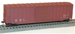 Accurail 5698 HO 50' Exterior Post Box Data Maroon 112-5698 ACU5698