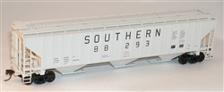 Accurail 6508 HO Pullman-Standard 4750 3-Bay Covered Hopper Kit Southern Railway