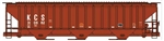 ACU6540 Accurail Inc HO PS 4750 Cvrd Hopper KCS 112-6540
