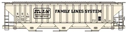Accurail 6542 HO Pullman-Standard 4750 3-Bay Covered Hopper Kit Family Lines SCL 241783 beige 112-6542