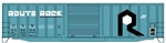 ACU81121 Accurail Inc HO 50' Exterior-Post Modern Boxcar - Kit -- Rock Island 718053 (blue, black, white, Route Rock Slogan) ACU81121 Accurail Inc 112-81121