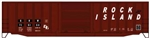 ACU81122 Accurail Inc HO 50' Exterior-Post Modern Boxcar - Kit -- Rock Island 715154 (Boxcar Red, Slanted Lettering) ACU81122 Accurail Inc 112-81122
