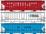 Accurail 8114 HO Pullman Standard Covered Hopper 3/ 112-8114 ACU8114
